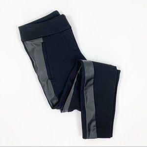 Loft Marisa Skinny Faux Leather Tuxedo Stripe Pant